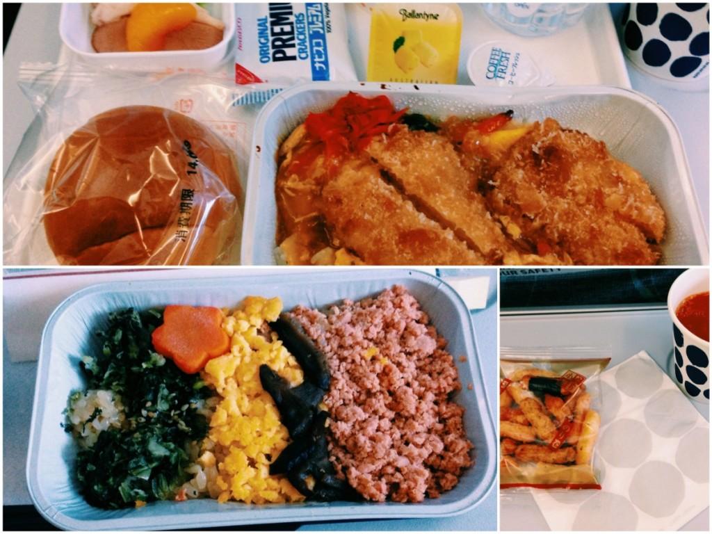 ヘルシンキ行きの機内食