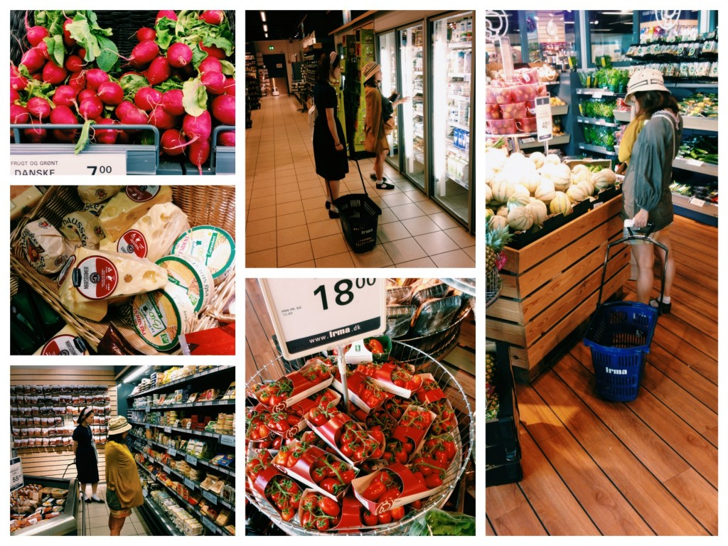 スーパーでの買い物風景