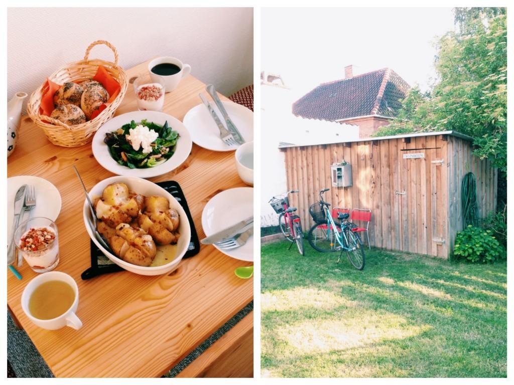 6月18日の朝ごはん自転車小屋